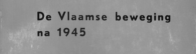 Bibliografie van de Vlaamse beweging