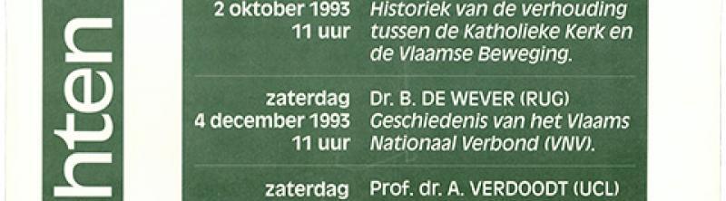 affiche Voordrachtenreeks 1993-1994